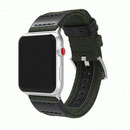 Зеленый кожаный нейлоновый ремешок для Apple Watch 0035-01-2