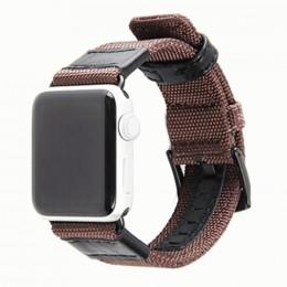Коричневый кожаный нейлоновый ремешок для Apple Watch 0035-01-3