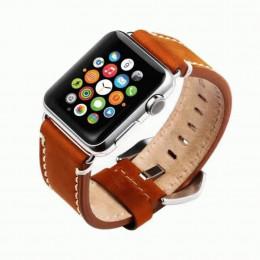 Коричневый кожаный ремешок для Apple Watch 0038-01-1