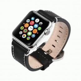 Черный кожаный ремешок для Apple Watch 0038-01-2