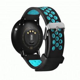 Черно-синий двухцветный перфорированный ремешок для Xiaomi Amazfit Pace 0039-03-3