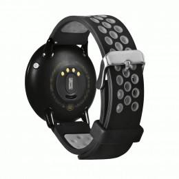 Черно-серый двухцветный перфорированный ремешок для Xiaomi Amazfit Pace 0039-03-4