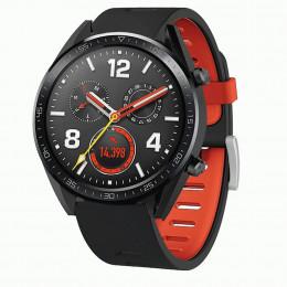 Черно-красный двухцветный силиконовый ремешок для Huawei Watch GT / GT2 0040-03-1