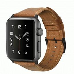 Коричневый кожаный вощеный ремешок для Apple Watch 0042-01-3