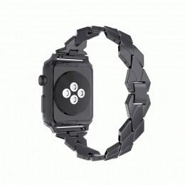 Черный ремешок из нержавеющей стали для Apple Watch 0043-01-1