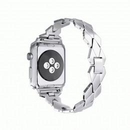 Серебряный ремешок из нержавеющей стали для Apple Watch 0043-01-2