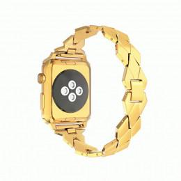 Золотой ремешок из нержавеющей стали для Apple Watch 0043-01-3