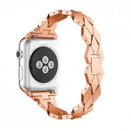 Розовое золото ремешок из нержавеющей стали для Apple Watch 0043-01-4