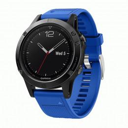 Синий быстросъемный силиконовый ремешок для Garmin Fenix 5/5 plus/6 0043-02-11