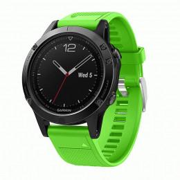 Зеленый быстросъемный силиконовый ремешок для Garmin Fenix 5/5 plus/6 0043-02-13