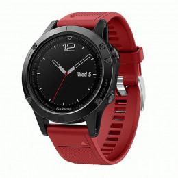 Красный быстросъемный силиконовый ремешок для Garmin Fenix 5/5 plus/6 0043-02-3