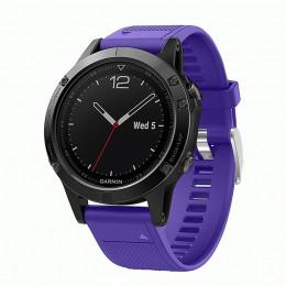 Фиолетовый быстросъемный силиконовый ремешок для Garmin Fenix 5/5 plus/6 0043-02-4