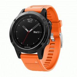 Оранжевый быстросъемный силиконовый ремешок для Garmin Fenix 5/5 plus/6 0043-02-8