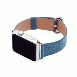 Темно-синий классический кожаный ремешок для Apple Watch 0044-01-1