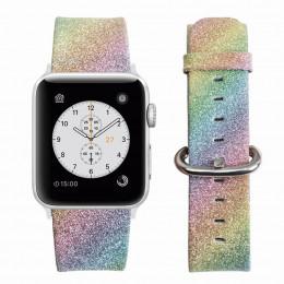 Радужный классический кожаный ремешок для Apple Watch 0044-01-5