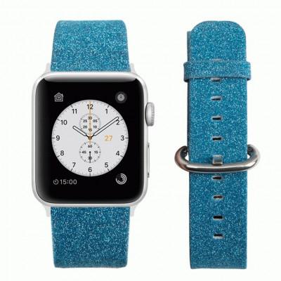 Голубой классический кожаный ремешок для Apple Watch 0044-01-6