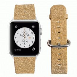 Желтый классический кожаный ремешок для Apple Watch 0044-01-7