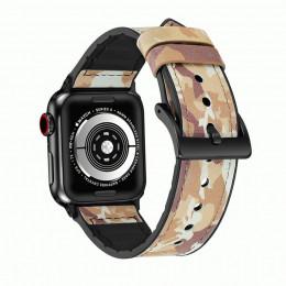 Коричневый камуфляжный кожаный ремешок для Apple Watch 0046-01-2