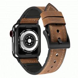 Кофейный кожаный ремешок для Apple Watch 0046-01-6