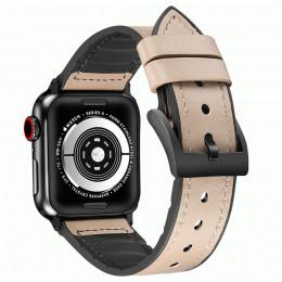 Бежевый кожаный ремешок для Apple Watch 0046-01-8