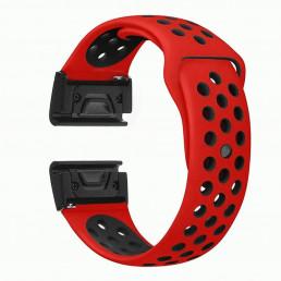 Оранжево-черный перфорированный силиконовый ремешок для Garmin Fenix 3/5x/5x plus/6x 0047-02-1