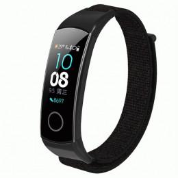 Черный нейлоновый ремешок на липучке для Huawei Honor Band 4/5 0050-03-1