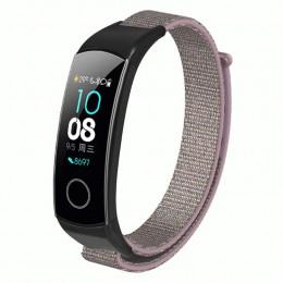 Розовый нейлоновый ремешок на липучке для Huawei Honor Band 4/5 0050-03-2