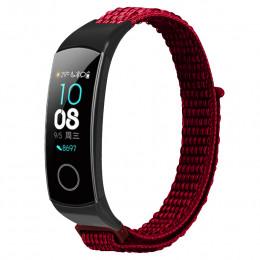 Красный нейлоновый ремешок на липучке для Huawei Honor Band 4/5 0050-03-6