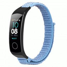 Синий нейлоновый ремешок на липучке для Huawei Honor Band 4/5 0050-03-9