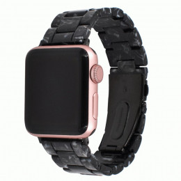 Черный звеньевой ремешок из полимерной смолы для Apple Watch 0052-01-1