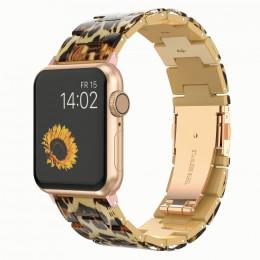 Леопардовый звеньевой ремешок из полимерной смолы для Apple Watch 0052-01-3