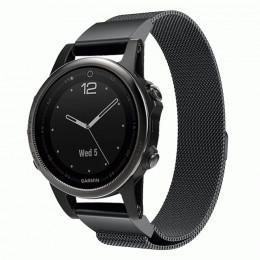 Черный миланский металлический ремешок для Garmin Fenix 5s/5s plus/6s 0056-02-3
