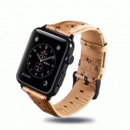Желто-коричневый винтажный кожаный ремешок для Apple Watch 0058-01-1