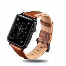 Светло-коричневый винтажный кожаный ремешок для Apple Watch 0058-01-2