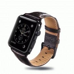 Кофейный винтажный кожаный ремешок для Apple Watch 0058-01-4