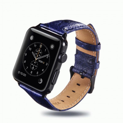 Синий винтажный кожаный ремешок для Apple Watch 0058-01-5