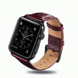 Красно-коричневый винтажный кожаный ремешок для Apple Watch 0058-01-6