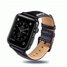 Черный винтажный кожаный ремешок для Apple Watch 0058-01-7