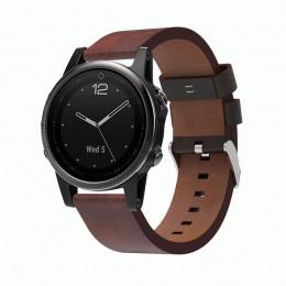 Красно-коричневый кожаный ремешок из натуральной кожи для Garmin Fenix 5s/5s plus/6s 0058-02-1
