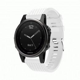 Белый силиконовый спортивный ремешок для Garmin Fenix 5s plus 0059-02-1
