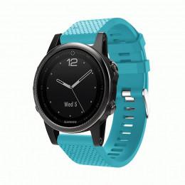 Голубой силиконовый спортивный ремешок для Garmin Fenix 5s plus 0059-02-10