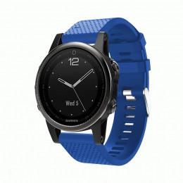 Синий силиконовый спортивный ремешок для Garmin Fenix 5s plus 0059-02-11
