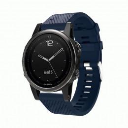 Темно-синий силиконовый спортивный ремешок для Garmin Fenix 5s/5s plus/6s 0059-02-12