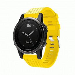 Желтый силиконовый спортивный ремешок для Garmin Fenix 5s/5s plus/6s 0059-02-2