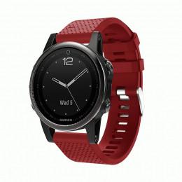 Красный силиконовый спортивный ремешок для Garmin Fenix 5s/5s plus/6s 0059-02-3
