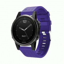 Фиолетовый силиконовый спортивный ремешок для Garmin Fenix 5s/5s plus/6s 0059-02-4