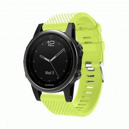 Зеленый силиконовый спортивный ремешок для Garmin Fenix 5s plus 0059-02-5