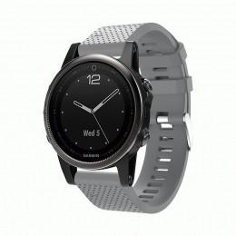 Серый силиконовый спортивный ремешок для Garmin Fenix 5s/5s plus/6s 0059-02-9
