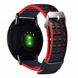 Черно-красный перфорированный ремешок из натуральной кожи для Xiaomi Amazfit Pace 0060-03-3