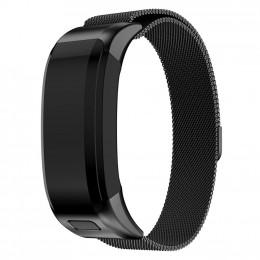 Черный миланский металлический ремешок для Garmin Vivosmart HR 0062-02-2